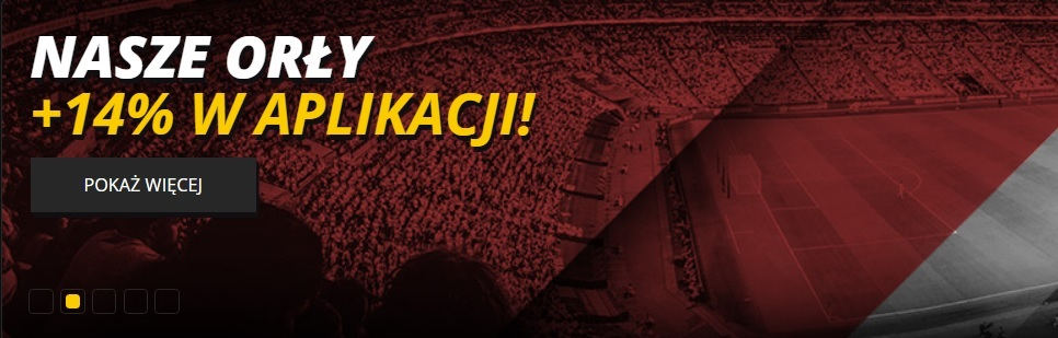 Bonus +14% na mecze reprezentacji Polski w LvBET!